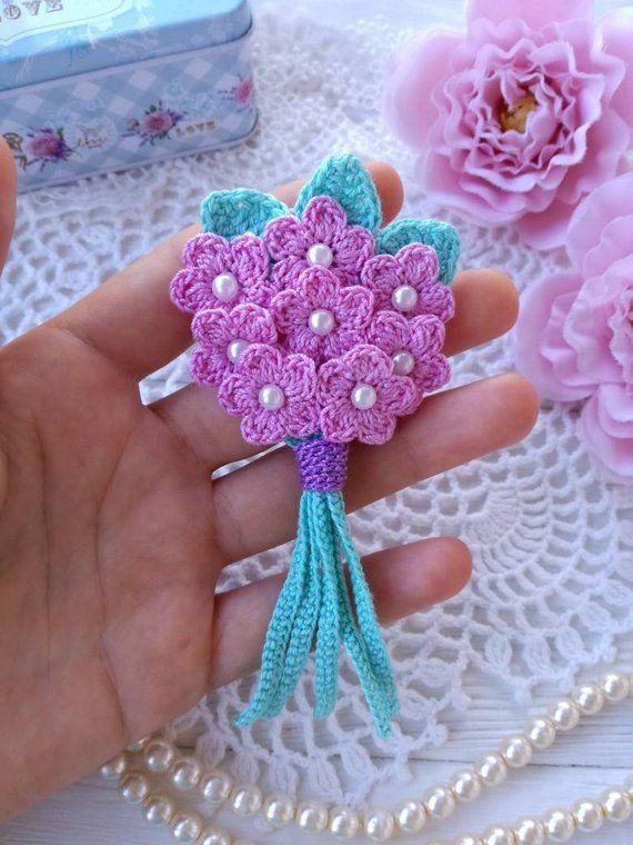 Crochet bouquet PATTERN. Crochet flowers PATTERN
