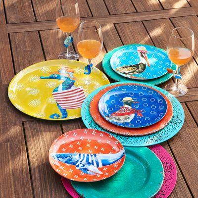 Warmer Days Call For Outdoor Entertaining, Like Beach Picnics, Patio  Parties Or Grilling By The Pool. Whatever Youu0026 Serving, Our Sturdy Melamine  Setu0026 ...