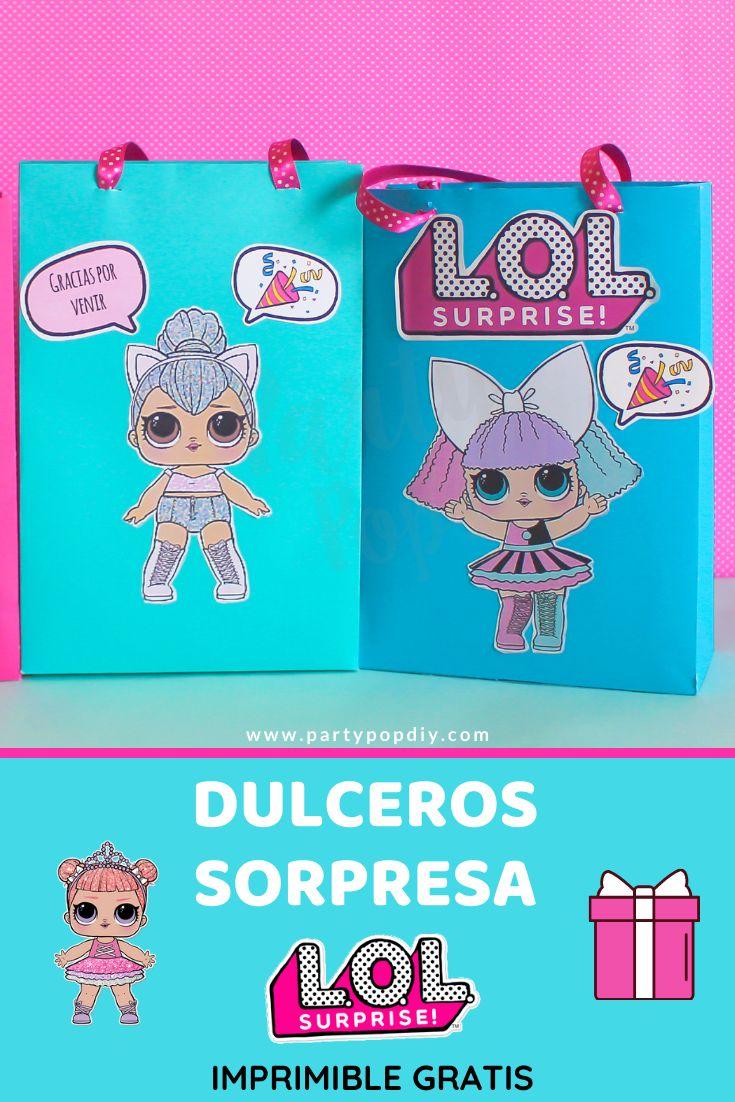 Dulceros sorpresa lol surprise. #lolsurprise #dulceros #diy #fiestalolsurprise #bolsasdepapel Lol, Baby Shower, Paper Bags, Sachets, Printable, Crates, Babyshower, Baby Showers, Fun