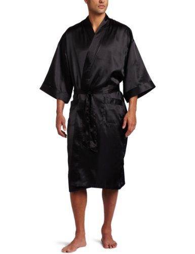 Mens Robes  - Pin it :-) Follow us .. CLICK IMAGE TWICE for our BEST PRICING ... SEE A LARGER SELECTION of Mens Robes at http://azgiftideas.com/product-category/mens-robes/ - men, gift ideas, mens wear -   Intimo Men's Classic Satin Robe