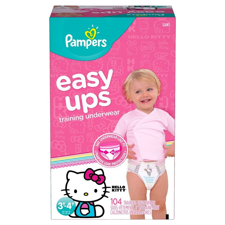 Pampers Easy Ups Girls Training Pants Giant Pack 3T-4T (104 ct)