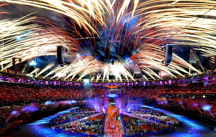 Closing Ceremony, London Olympics, Aug. 12, 2012. (Wally Skalij/Los Angeles Times)