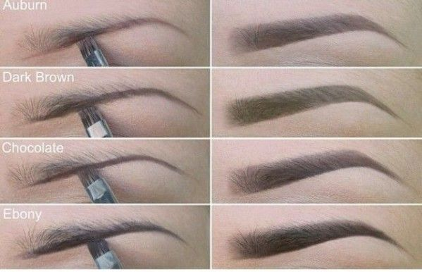 how to choose right color for eyebrows