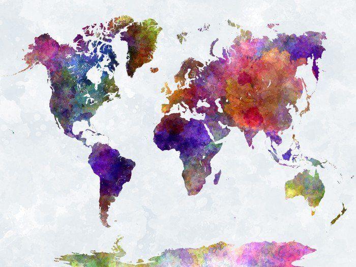 Watercolour splash map