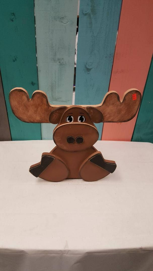 Moose Craft approximately 13x13 . They are offered Unfinished with vinyl or Finished Like the Picture. If you would like the paper we used please ask for a custom order so I may add it to your unfinished kit