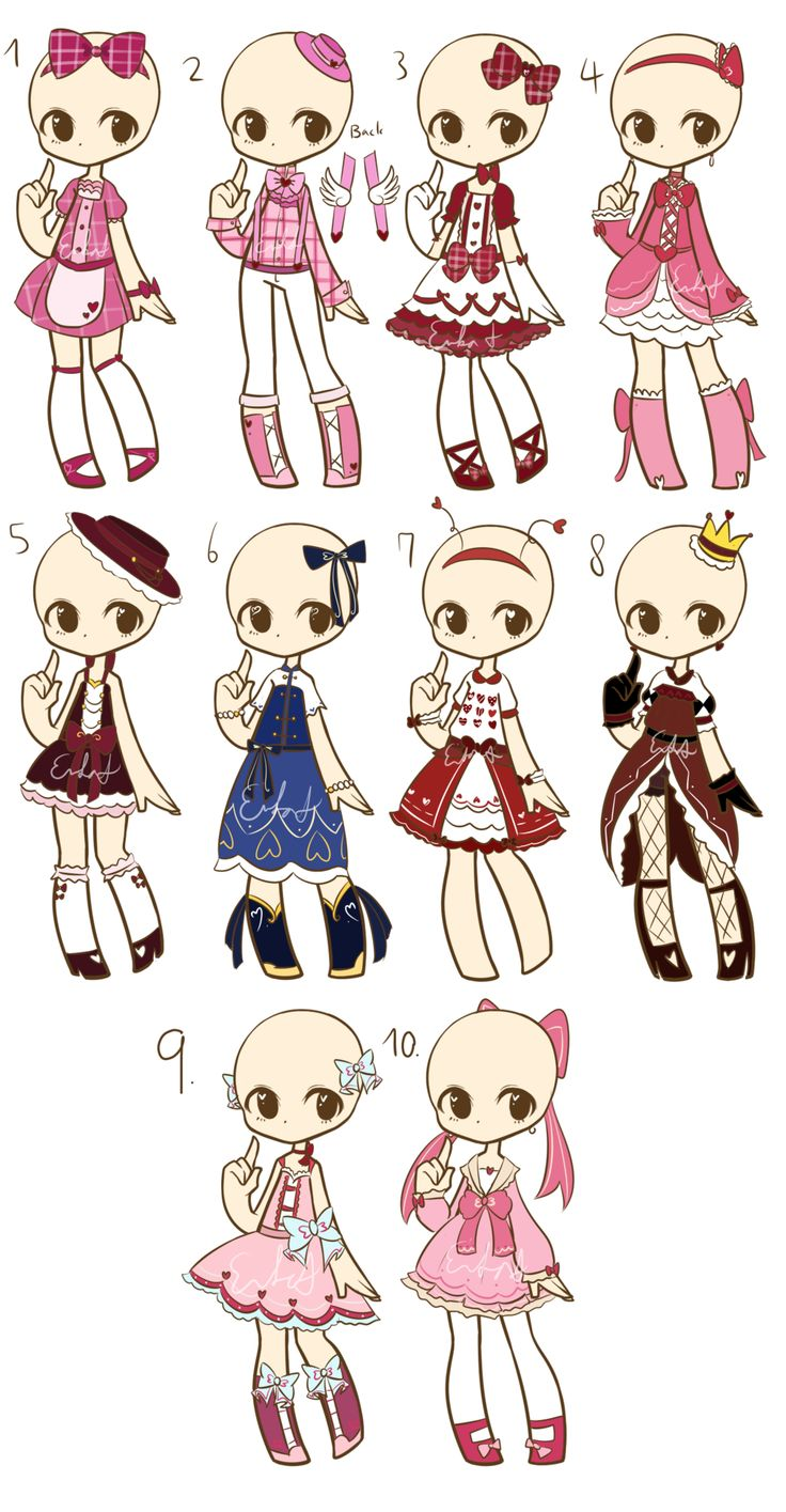 Vdays Outfit Adopts :CLOSED: by LukasB-adopts.deviantart.com on @DeviantArt