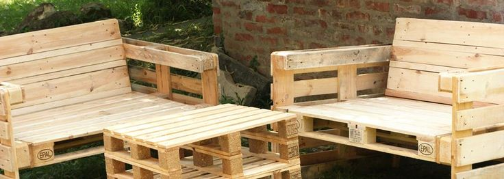 Pallets' recycling furnitures. All outside ( on covered place ) and inside too suitable.