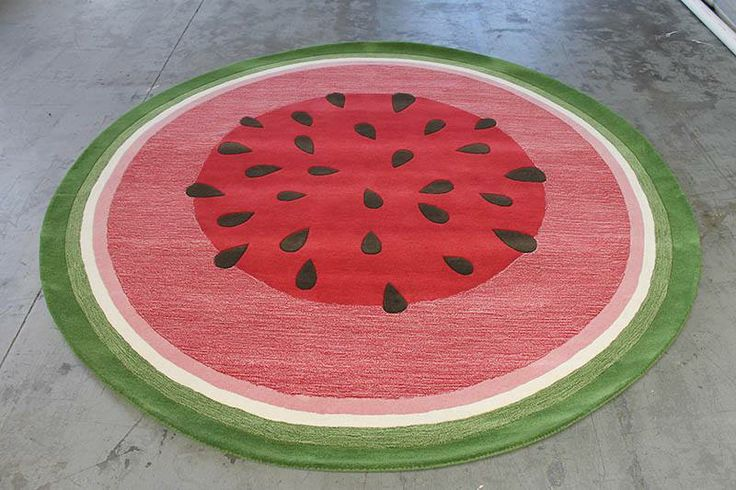 What a fantastic idea for a custom rug! This watermelon rug was designed by Katie Johnson from Kemble Building and Design. #TheRugCollection