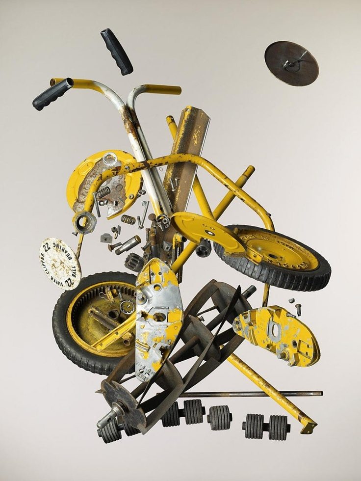 """from todd mclellan's series """"disassembly"""". first he disassembles something, then his assistants drop it bit by bit until he's got enough partial exposures that he can then combine on the PC... KOOL"""