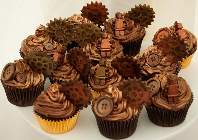 steam punk cupcakes with lego men | Flickr - Photo Sharing!