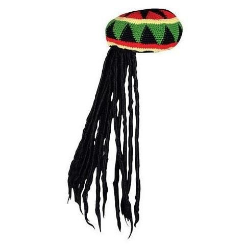 Rasta Tam With Curly Dreads - The Hippie House