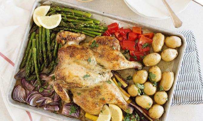 chicken. This roast chicken is seasoned with Herbes de Provence ...