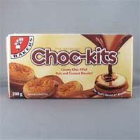 Biscuits made with creamy chocolate-filled oats and coconut. From South Africa.