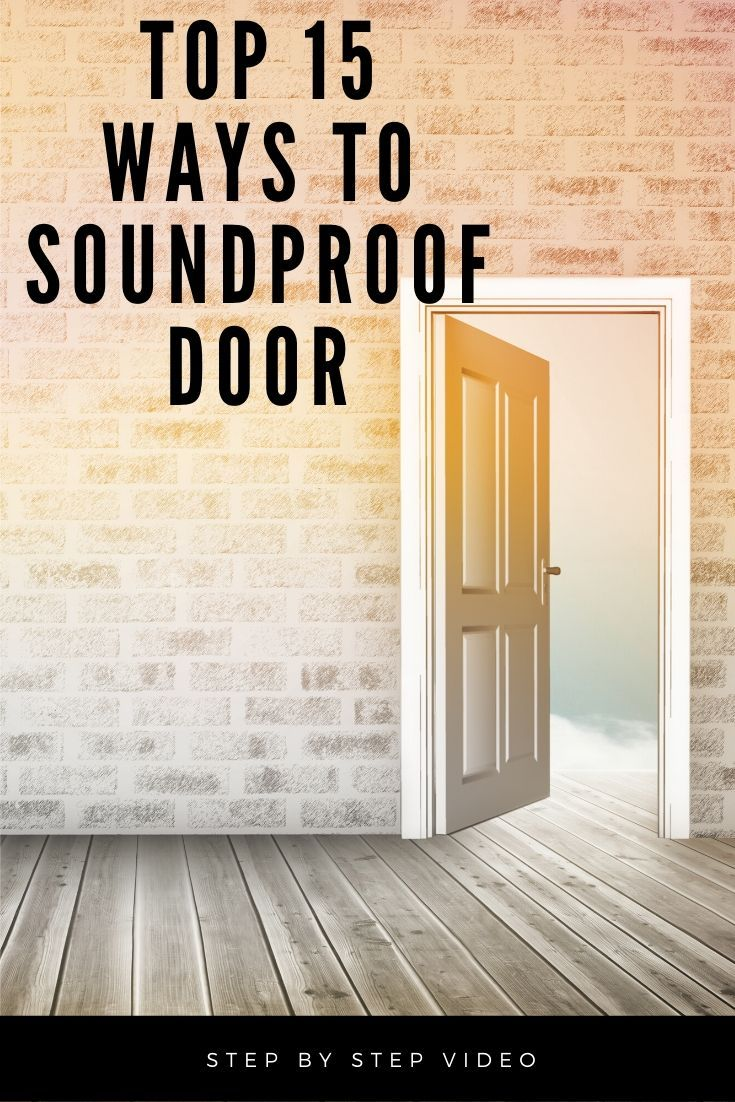 Soundproofing A Door Easy Cheap Diy Sound Proofing Door Sound Proofing Make A Door