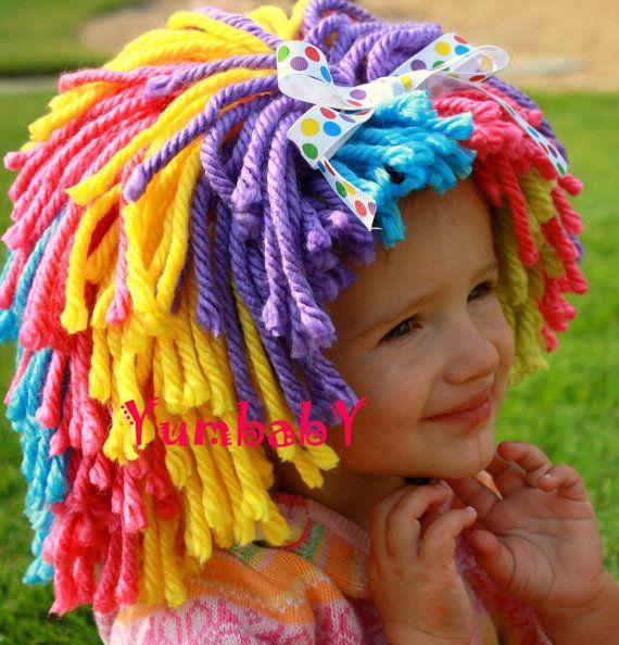 Clown wig Halloween Costume Clown Costume Baby Hat by YumbabY