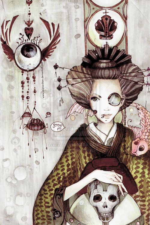 Steampunk Geisha - two of my favorite things: japanese culture and steampunk ^_^