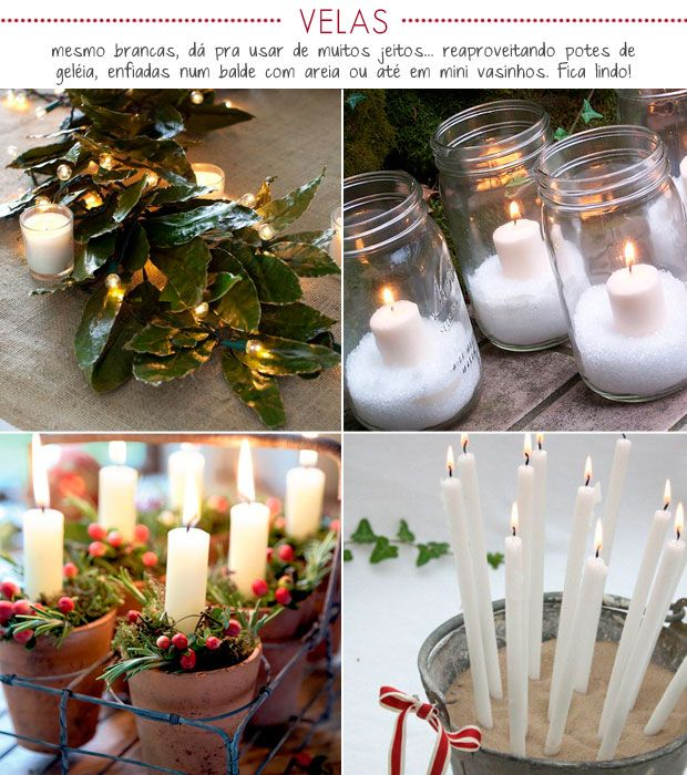 Candles to decorate Christmas.