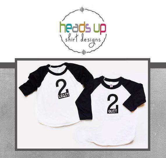 Twin Boys 2 Birthday Raglan Shirts  Twin by Headsupshirtdesigns