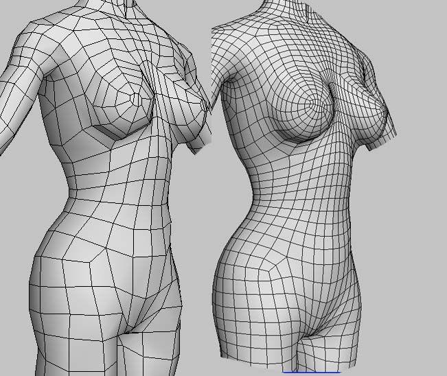 female topology - please critique (mild 3D nudity) - Polycount Forum