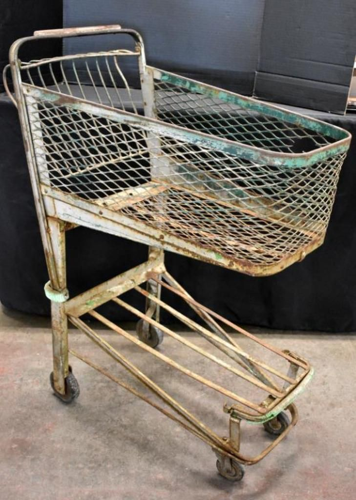 Antique Grocery Shopping Cart Auctions Online Proxibid Available To Bid On April 11 2019 At 6 30pm Join Us Shopping Cart Antiques Auction