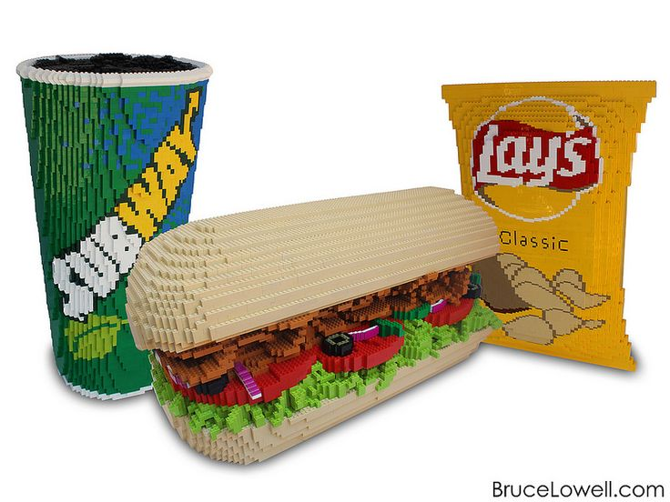 LEGO Subway Sandwich Meal | Last summer I was commissioned b… | Flickr