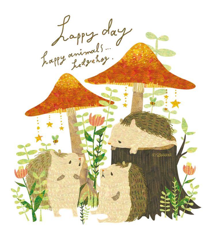 Hedgehog. 東急ハンズ池袋店1Fフロアで行われるイベント、HARI WOOD~ハリネズミと森の動物たち~に急きょ参加させて頂く事になりました。 私は後期7日間(3/15~21)のみ出展予定です。ハリネズミ中心の紙もの等のグッズを販売予定です☆よろしくお願い致します。 By Megumi Inoue. http://sorahana.ciao.jp/