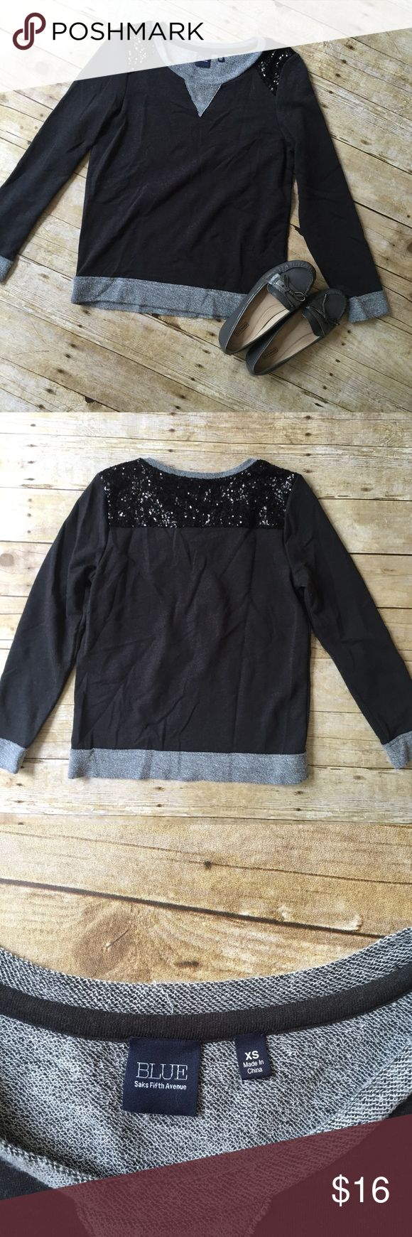 ✨Sale✨Saks Fifth Avenue Sequin Sweater Gently worn! All sequins appear to be intact. Saks Fifth Avenue Sweaters Crew & Scoop Necks