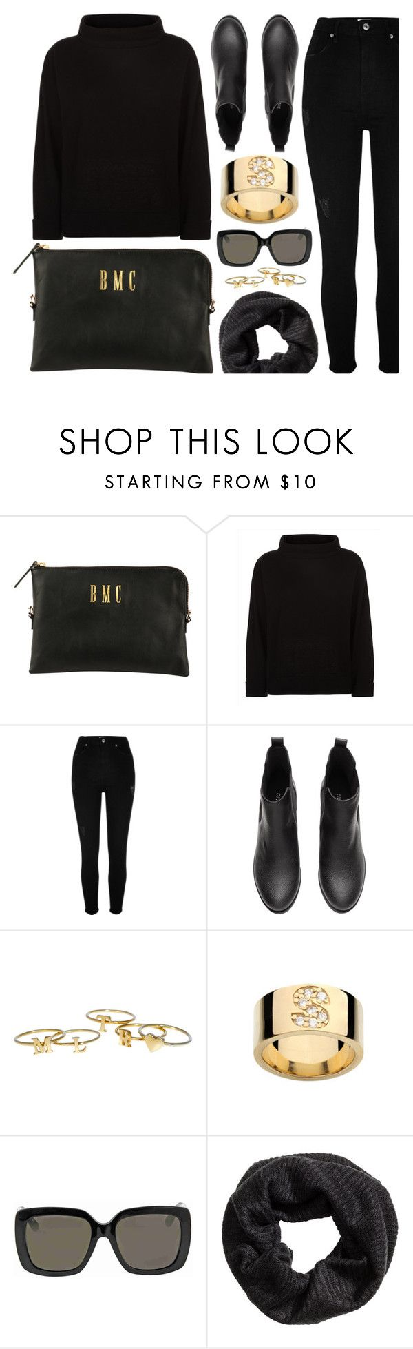 """""""Black & Gold"""" by mimicdesign ❤ liked on Polyvore featuring Jaeger, River Island, Gucci, gold and black"""
