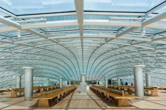 Glass that doesn't allow overheating!...Crystalline Domed Mansueto Library Features Robotic Book Retrieval System | Inhabitat - Sustainable Design Innovation, Eco Architecture, Green Building