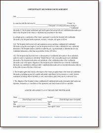 Sample Non-Disclosure Non-Compete Agreements