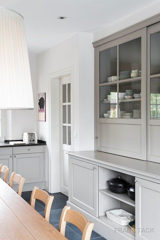 gray cabinets // kitchen