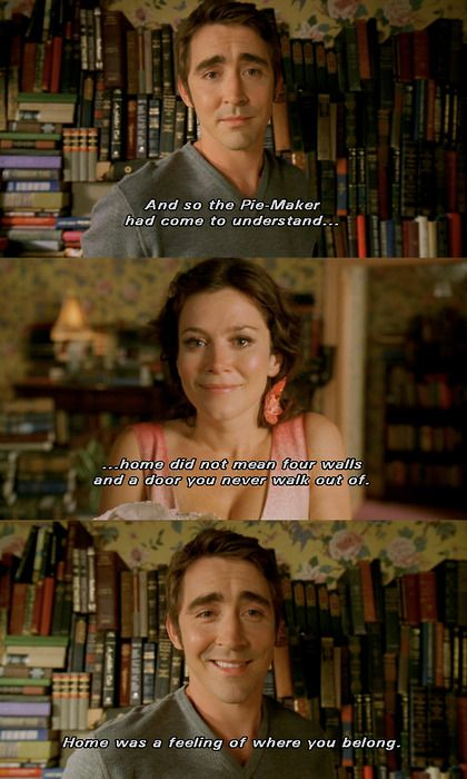 Pushing Daises. This made me start crying just now. I don't know whether it was the quote itself, how much I miss Pushing Daisies, how much it meant to me, or how I can't believe it's been so very long. Maybe a little bit of it all.