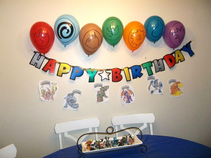 Skylanders Birthday Party The Brown Eyes Have It