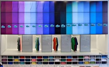 The alligator goes modern: Lacoste stores deploy digital signage