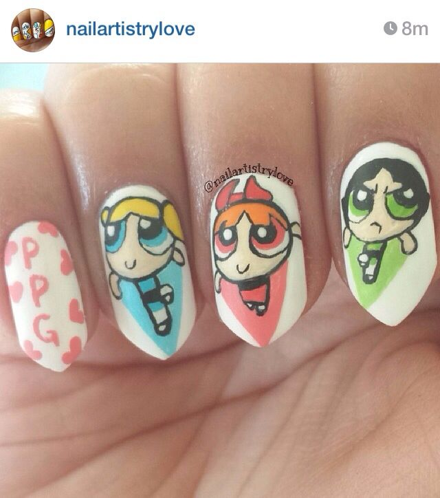 43 best cartoon nails images on Pinterest | Nail ideas, Nail ...