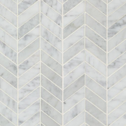 Available At Arizona Tile Bianco Carrara Chevron 1x3