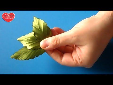 Красивый Листик из Ленты + Подарок от подписчика / beautiful leaves out of ribbon - YouTube
