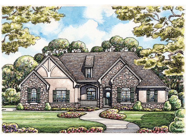 down size w basement eplans french country house plan stone and stucco splendor 2598 square feet and 3 bedrooms from eplans house plan code - French Country Ranch House Plans
