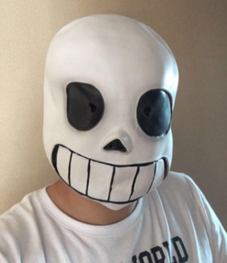 Funny White Masks Full Head Undertale Sans Latex Cosplay  Helmets Props Party Halloween Fancy Ball