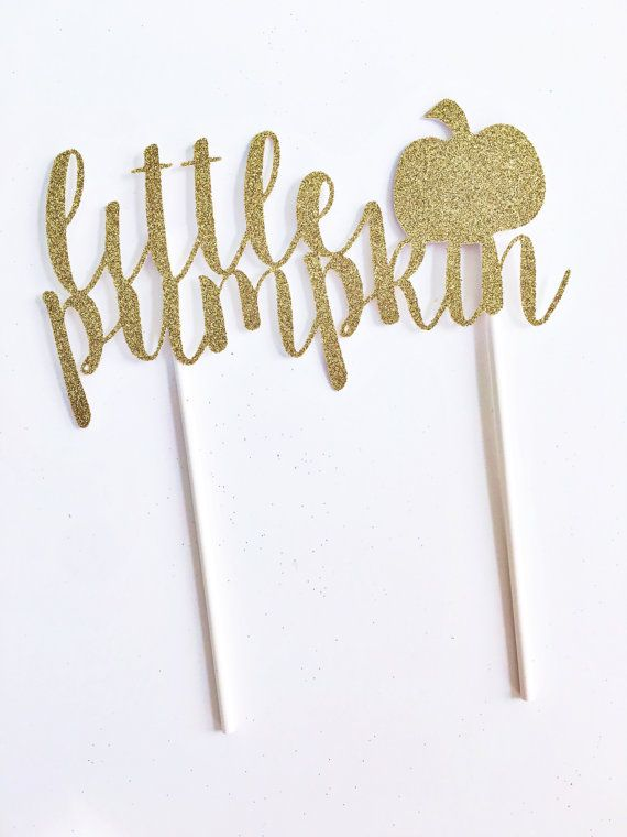 Little pumpkin cake topper - fall theme baby shower!
