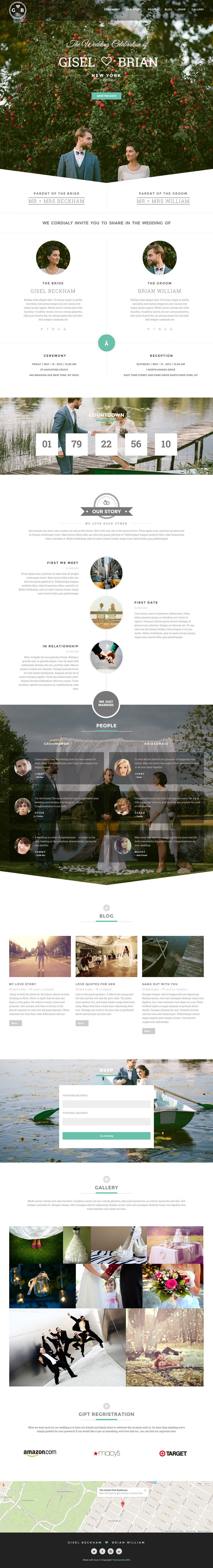 Ulemulem is Premium full Responsive Retina WordPress Wedding theme. Parallax Scrolling. One Page. Bootstrap 3. Google Map. #WP #Wedding #Bootstrap3 Test free demo at: http://www.responsivemiracle.com/cms/ulemulem-premium-responsive-wedding-wordpress-theme/