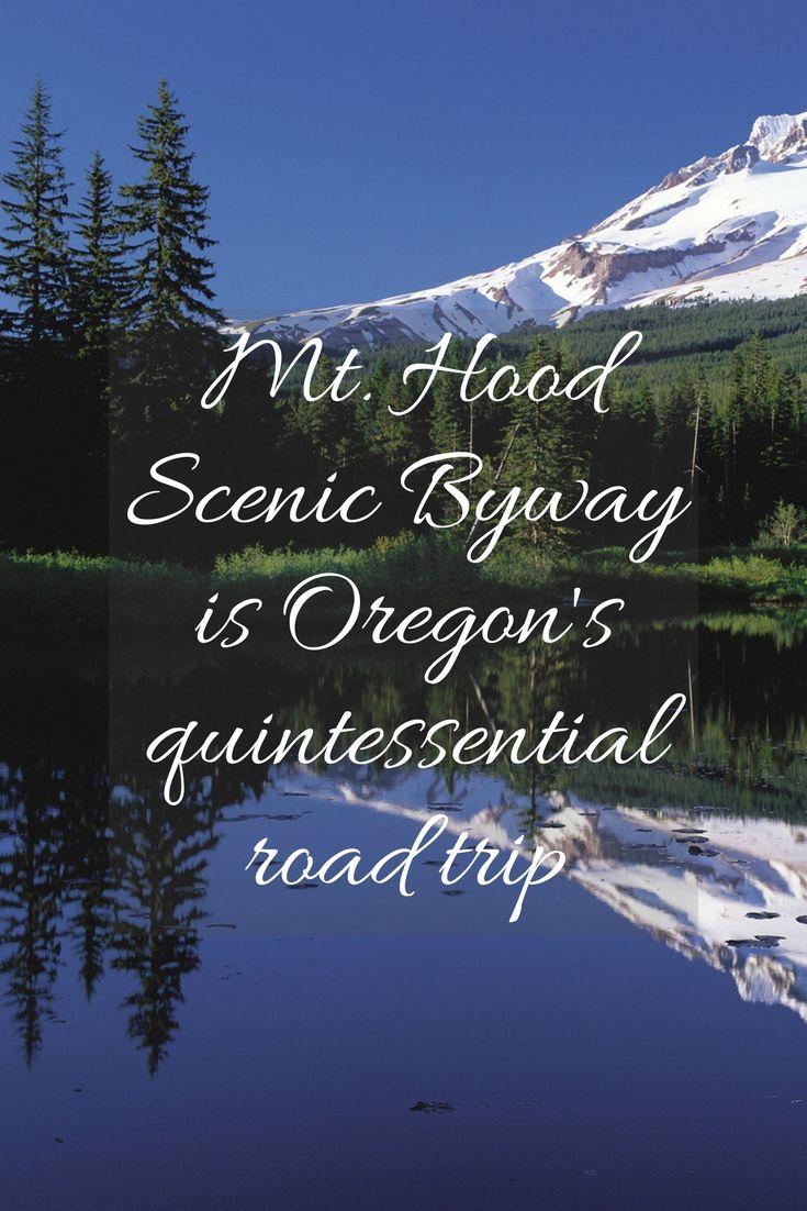 Map Of Oregon Highways%0A Mt  Hood Scenic Byway is Oregon u    s quintessential road trip