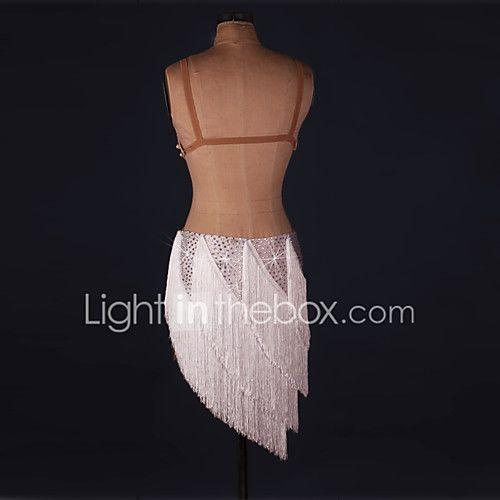 Danse latine Robes Femme Spectacle Elasthanne 1 Pièce Sans manche Taille moyenne Robe de 2017 ? €87.29