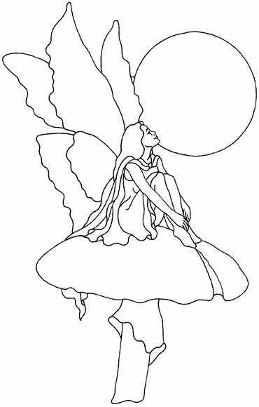 Fairy On Toadstool Pattern Free Sample Stainedglassfairy Stained