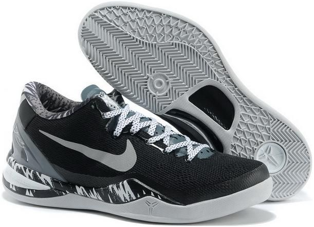 sale Nike Zoom Kobe 8 VIII System PP Black Metallic Silver Cool Grey Mens  Basketball Shoes running 2015 shoes
