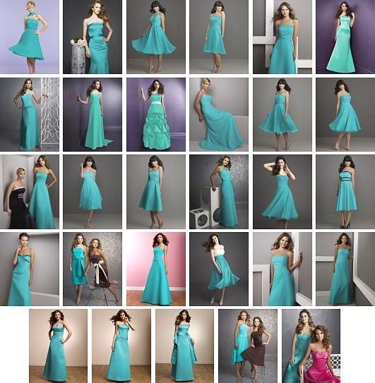 tiffany blue brides maid dresses