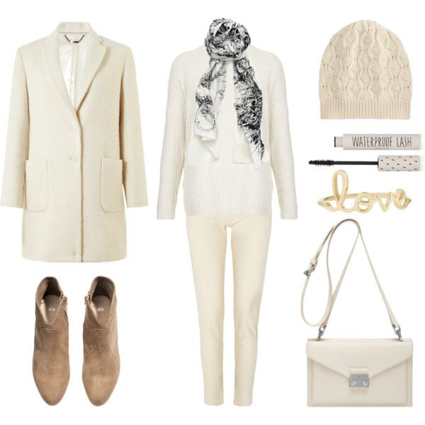 St. Piece Wardrobe Inspiration: St. Piece Silk Cotton Scarf, #fashion #fashionset #style #StreetChic #StreetStyle #polyvore #polyvorecontest #winterwhite #winter #white #coat #jigsaw #knitwear #knit #jumper #topshop #scarf #st_piece #jeans #skinnyjeans #whistles #boots #ankleboots #hm #leather #leatherbags #mulberry #hat #beanie #mascara #cosmetics #ring #love