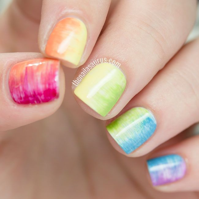 Uk Nail Art Blog Nail Art With Bite: 17 Best Ideas About Rainbow Nail Art On Pinterest