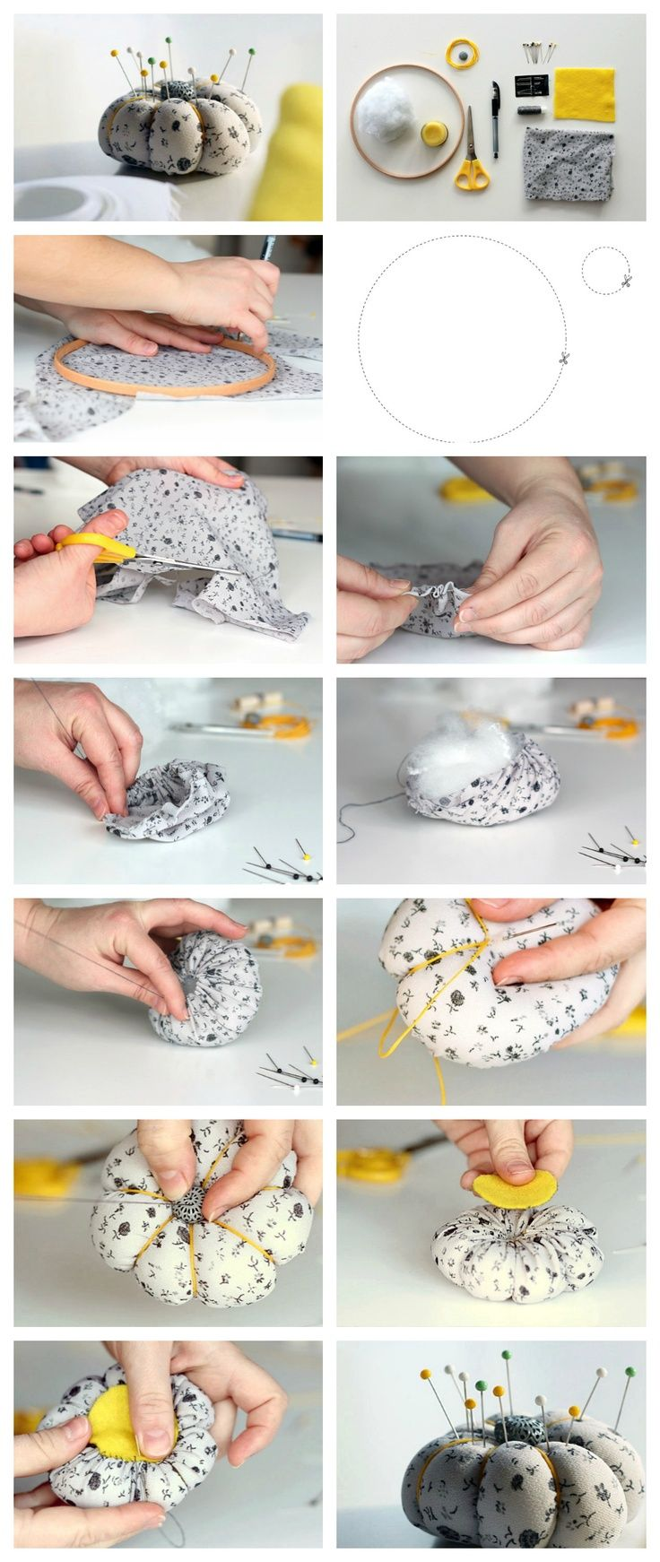 Great sewing tutorial! Make an adorable pincushion with this step-by-step tutorial.
