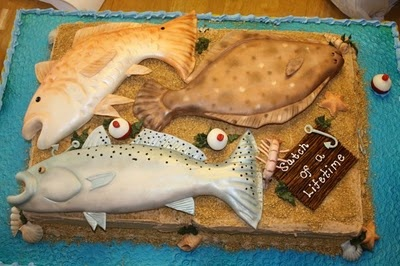 "fishy cake Andy would love this - ""catch of a lifetime <3"""
